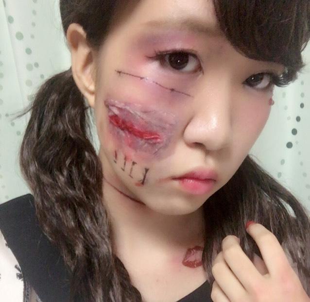 ハロウィン簡単傷メイク♡のAfter画像
