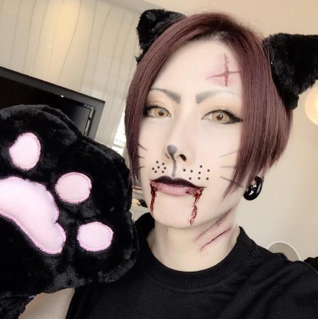 黒猫ハロウィンメイクのAfter画像