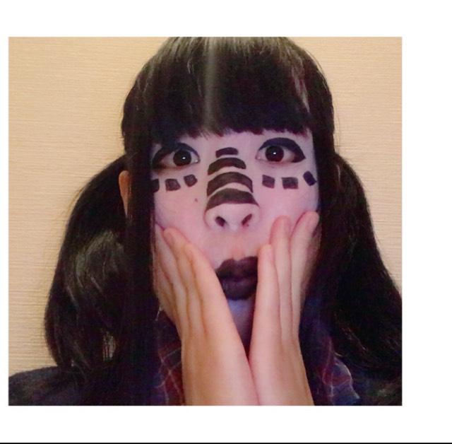 【ハロウィン】初音ミクマトリョシカ風メイク