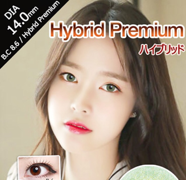 アイレンズ(hybridpremiumgreen) DIY 14.0mm 直径13.0mm BC 8.6 使用期間6ヵ月~1年
