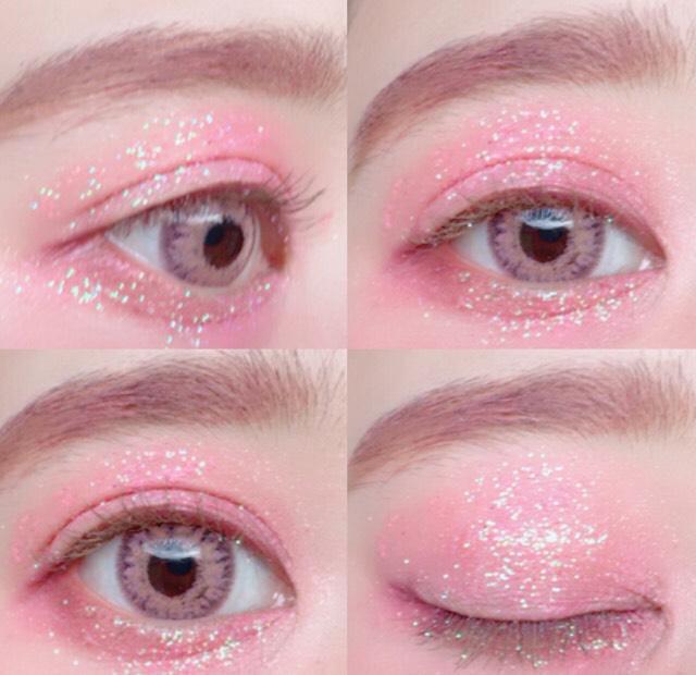着色直径が12.7ミリだからきつすぎないピンクのカラコンです! レンズの色はtheピンクって感じではなくパステルピンクって感じの色味。 フチがあるからくっきりしてくれるけどきつすぎないカラコンです!