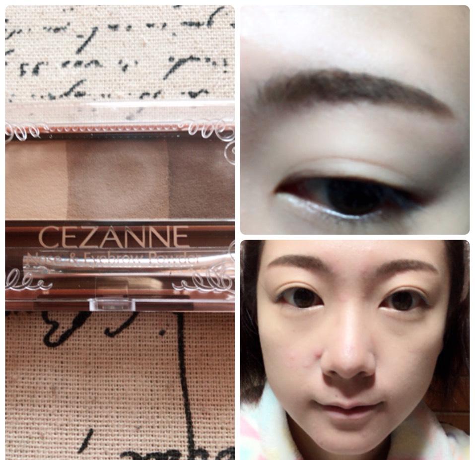 眉尻を濃く、眉頭を薄くなるように眉毛を書き、いちばん薄い色でノーズシャドウを入れます。