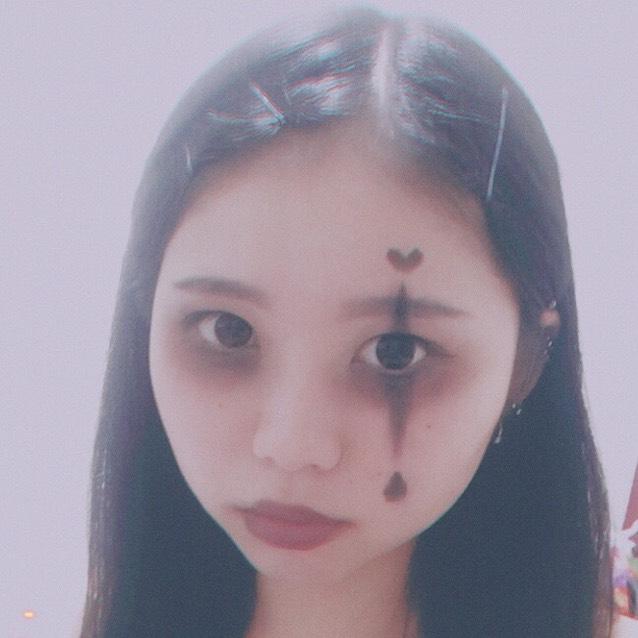Halloween本番!簡単ピエロ風メイク!のAfter画像
