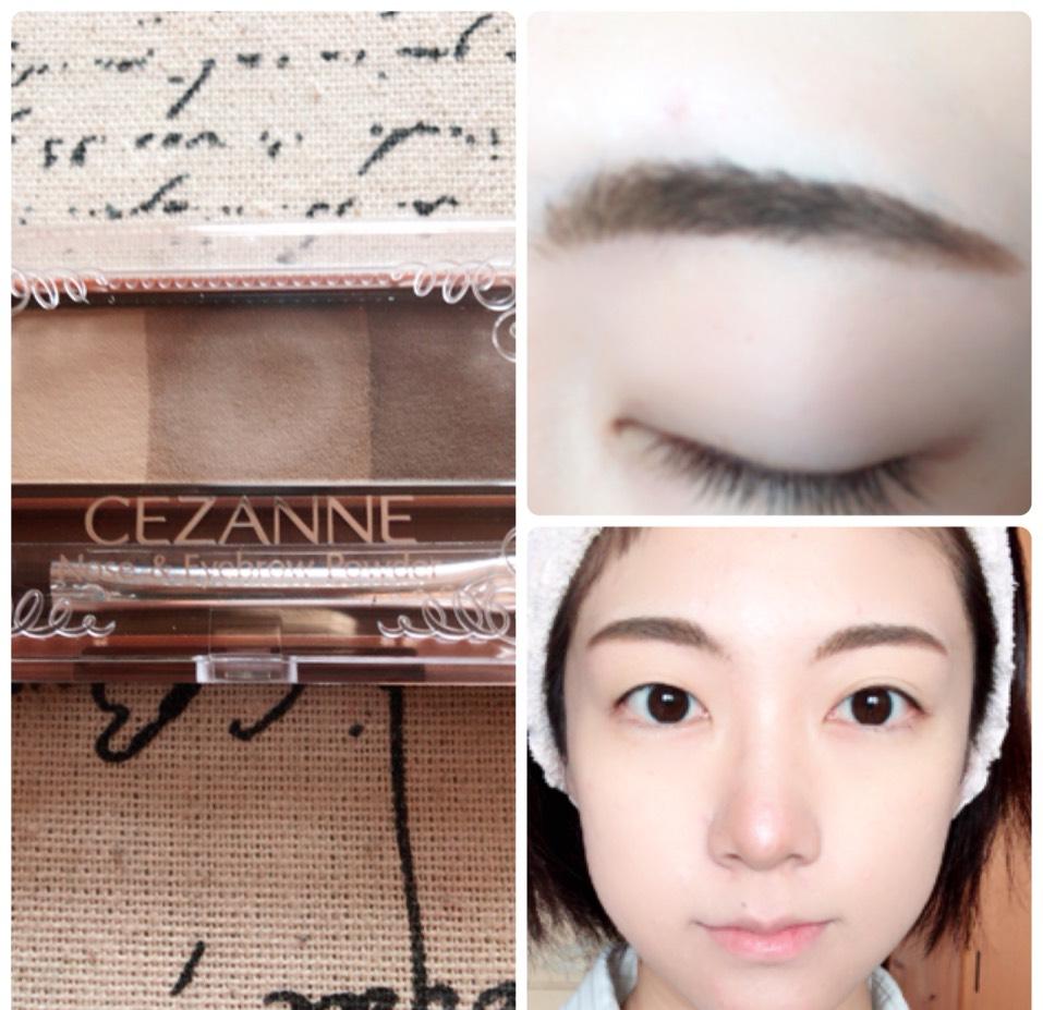 眉尻を濃く、眉頭を薄くなるように眉毛を書き、いちばん薄い色でノーズシャドウをまた入れます。