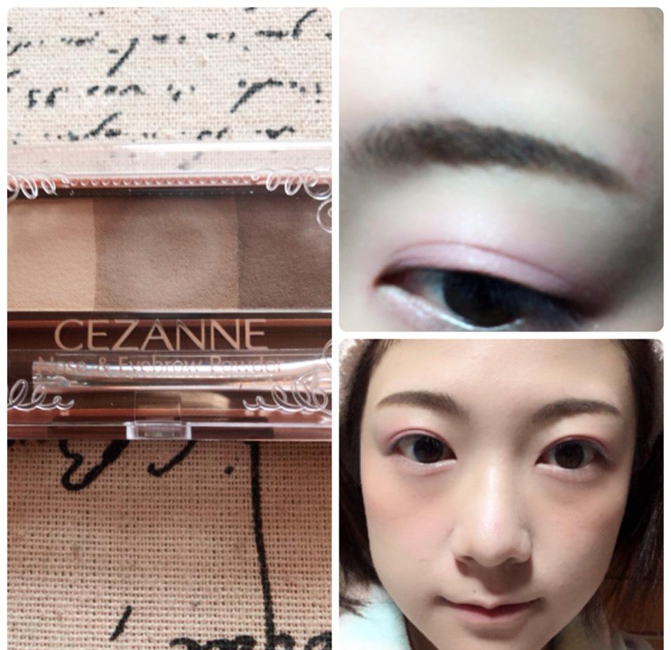 眉尻を濃く、眉頭を薄くなるように眉毛を書き、いちばん薄い色でノーズシャドウも入れます。