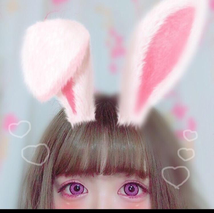 高発色!ピンクカラコン♥