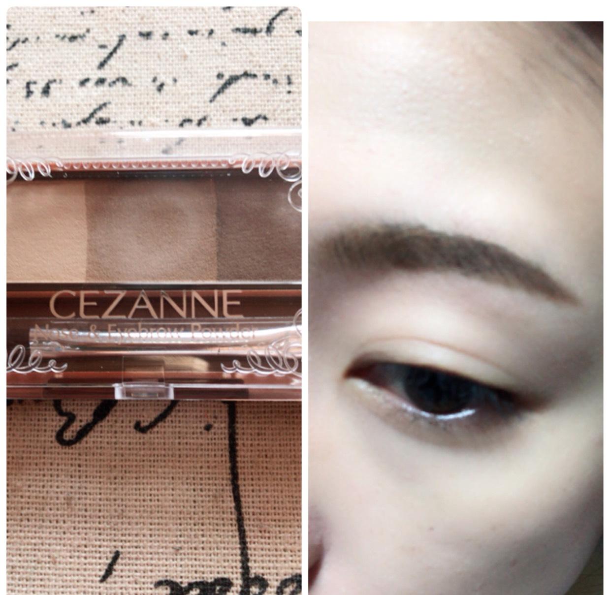眉尻を濃く、眉頭を薄くなるように眉毛を書きます。