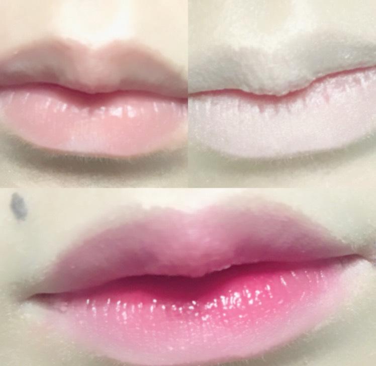 唇はこんな感じ✩*॰¨̮ コンシーラーで消したあとに、中心のみに赤を入れて指で叩きながら段々と外を薄くしました♪