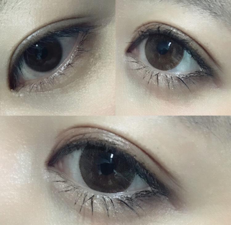 二重幅が狭いので、可愛らしく見せるために絆創膏で二重幅を広げました! あと、自然に見えるカラコンをして瞳を大きくしてます!