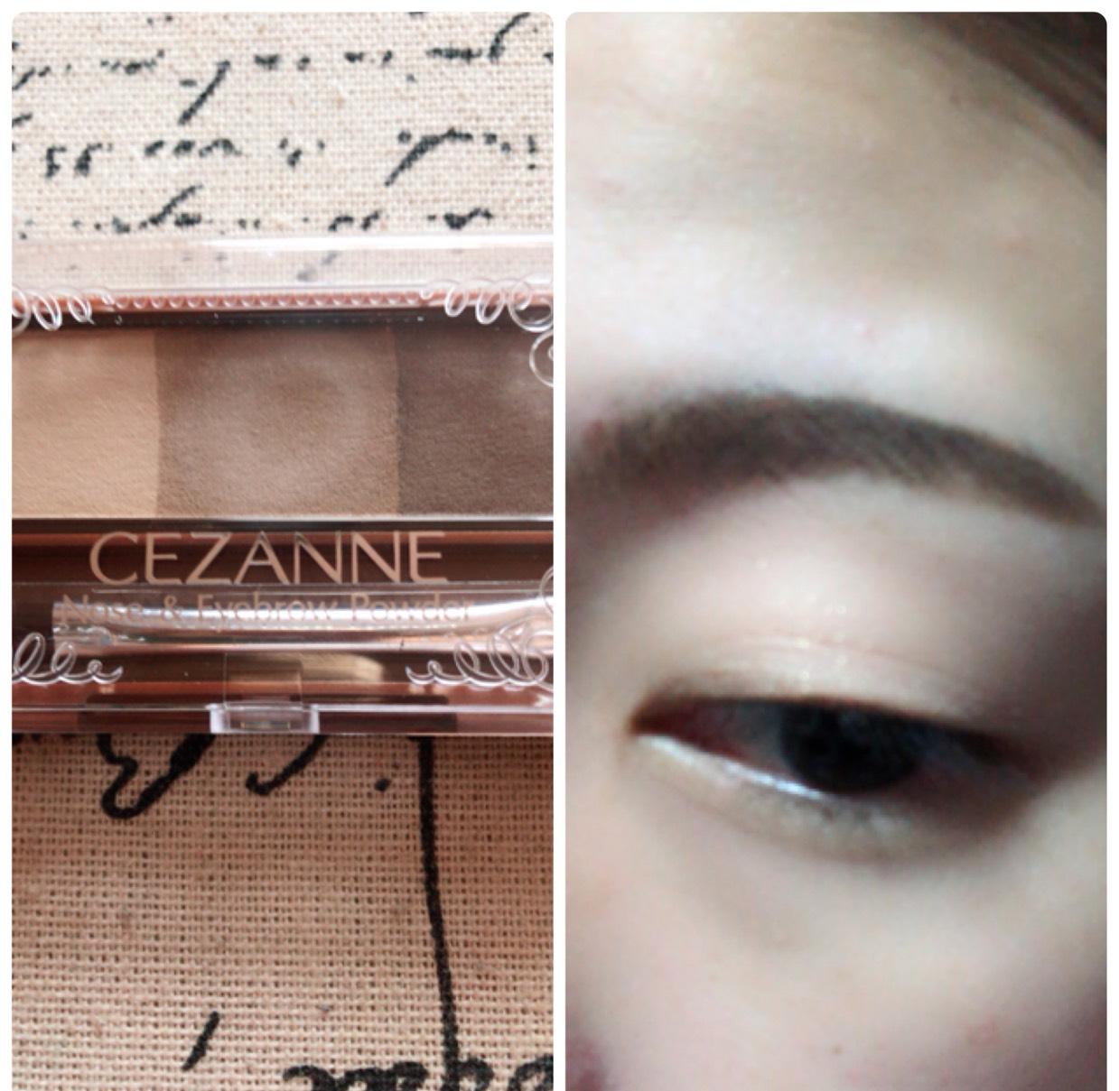 眉尻をこく、眉頭を薄くなるように眉毛を書きます。