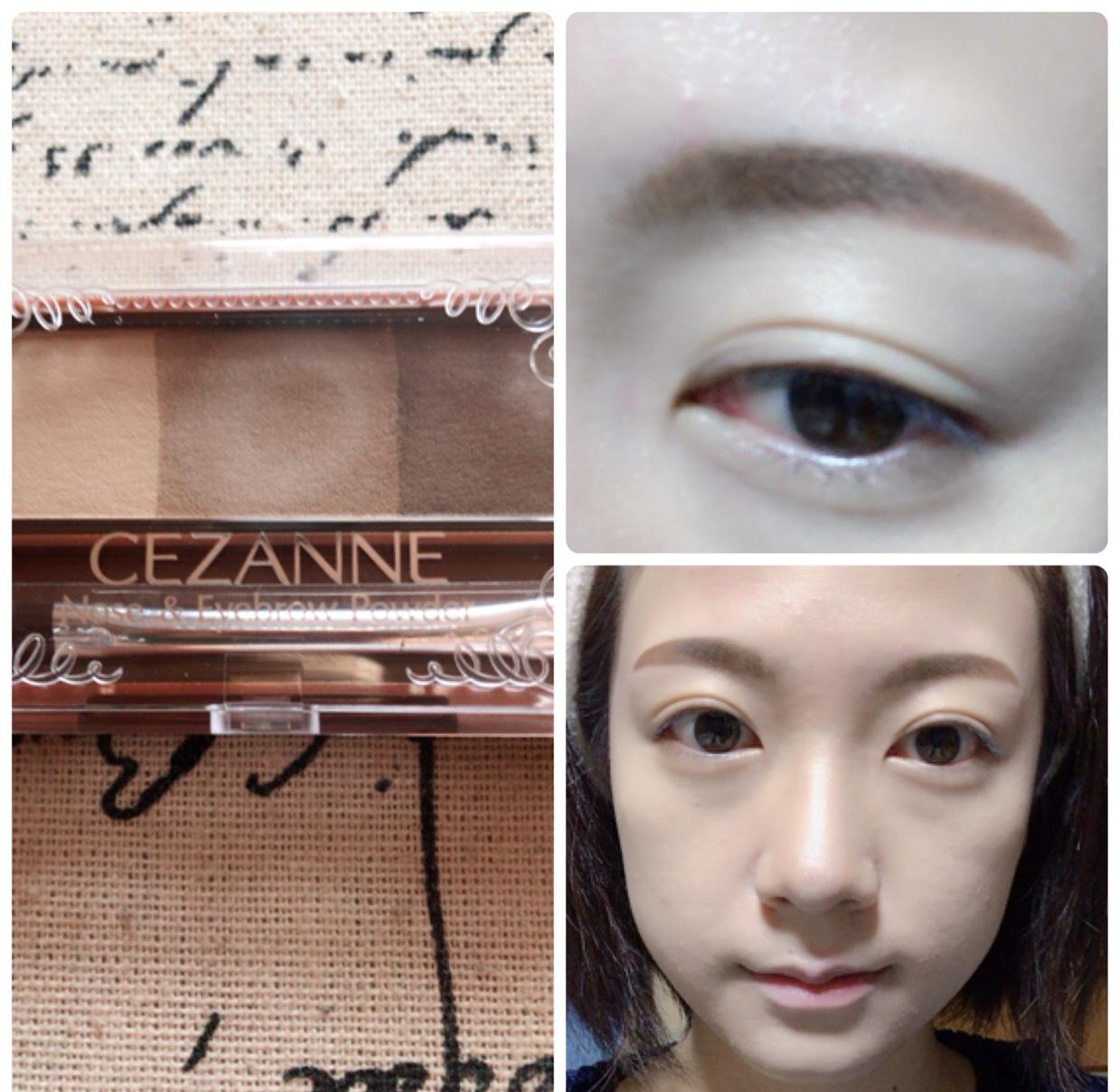 眉尻を濃く、眉頭を薄くなるようにまゆ毛を書きます。 ノーズシャドウも薄い色で入れます。