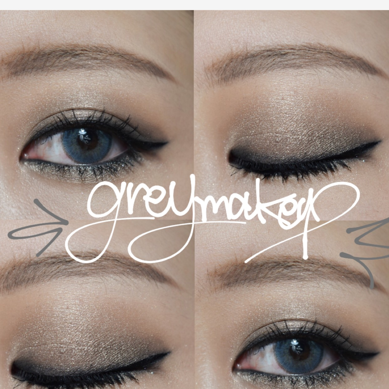 cool greycollar makeup