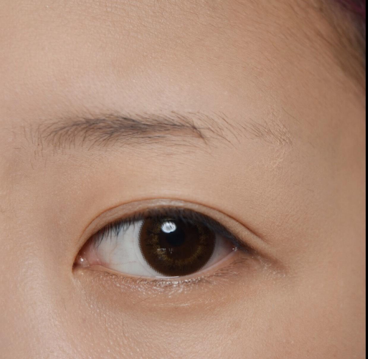 眉なしの眉毛の書き方のBefore画像
