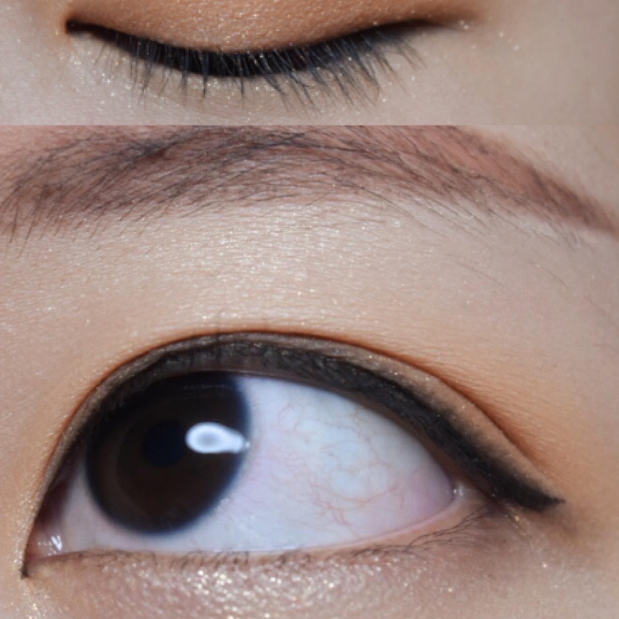 アイラインは馴染む様にナチュラルブラウンカラーで目の形に沿ってひきます 完成!!!