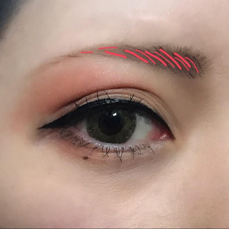 眉はほぼ全剃り状態なのでブラウン系のケイトのリキッドライナーで眉を一本一本ささっと書きます