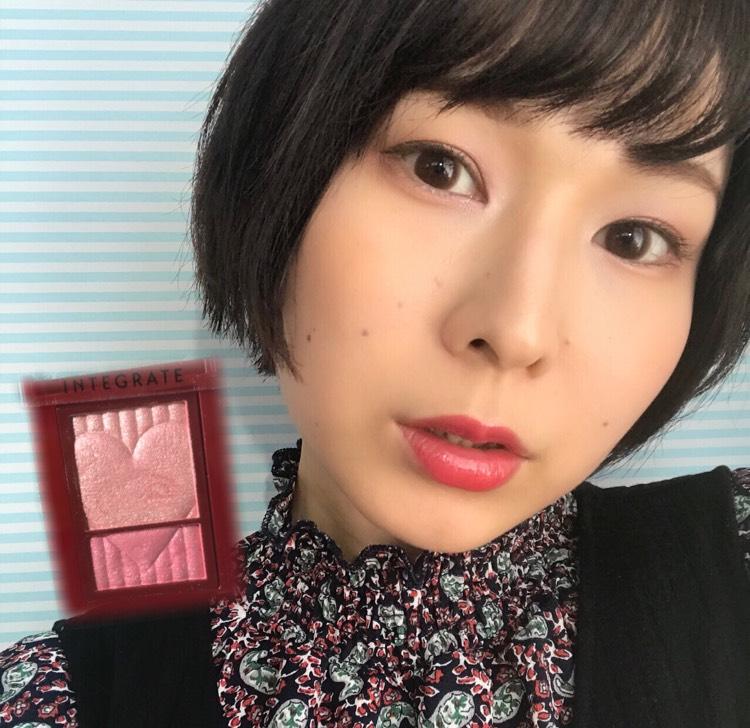 ピンクベージュメイク☆ワイドルックアイズ限定PK222メイク①