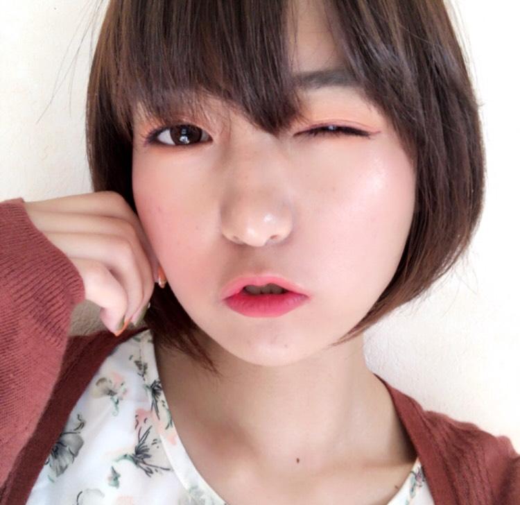 韓国コスメでオレピンメイクのAfter画像