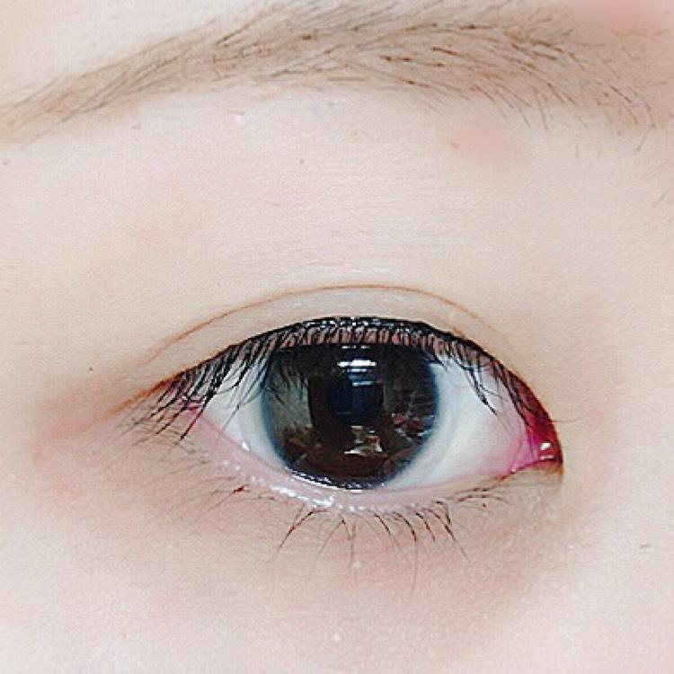 ピンクの線まで引いて、目を開けるとこんな感じです!
