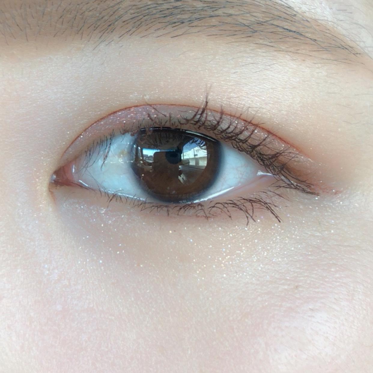 【韓国コスメ】濡れ感あふれる♡ラメメイクのAfter画像