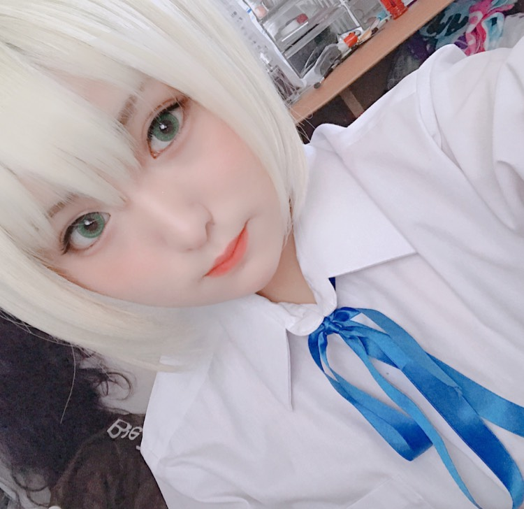 Fate セイバー コスプレメイクのAfter画像