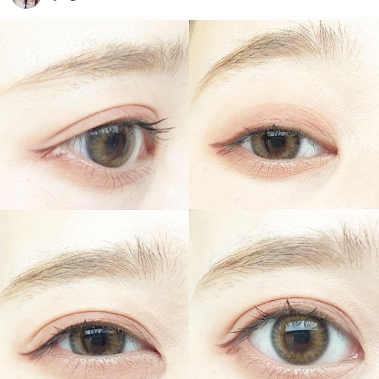 韓国風平行眉の書き方のAfter画像