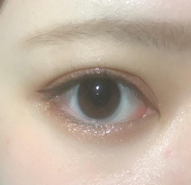 ♡キラキラ黄桃アイメイク♡のAfter画像