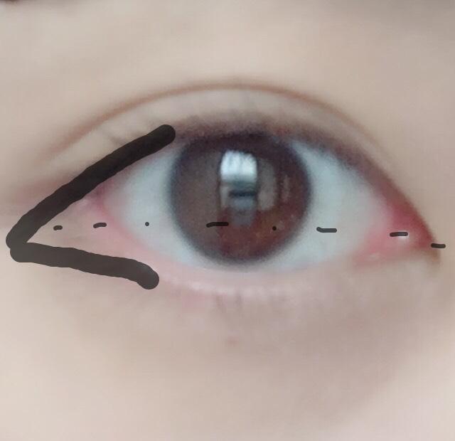 二重幅に①を塗り、黒目の外側から目尻にかけて③を塗ります。 下は②と③を混ぜて塗ります。 全てかーなり色味が濃いので少しずつ付けるのがオススメです☺︎