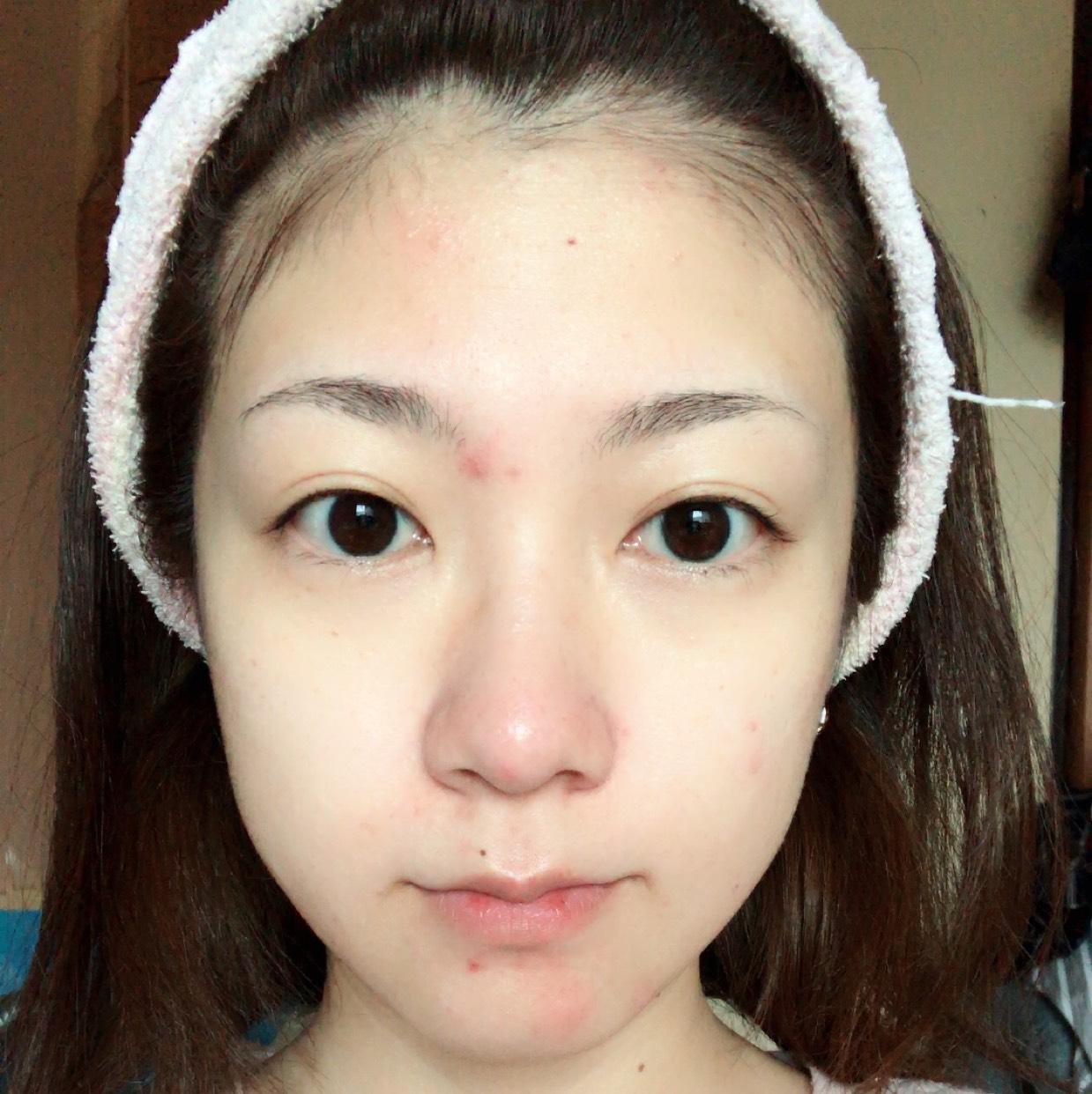 色白×韓国(風味)メイクのBefore画像