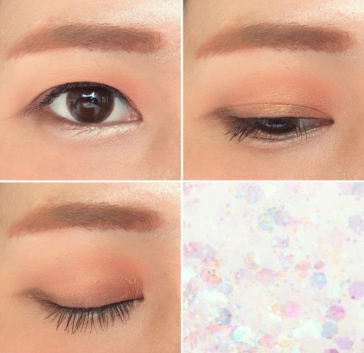 眉も韓国コスメを使って赤みのある眉にして統一感を出しました アイラインはまつ毛の隙間だけにして抜け感を出しました