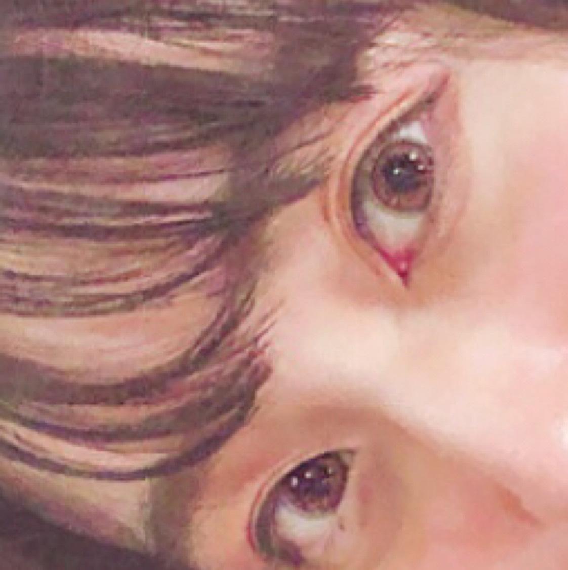 顔が童顔なので、大人っぽくしたいときはしっかり目頭切開ラインを毛先が細いアイライナーで書いて、涙袋は狭めに書きます。涙袋の幅とっても重要な気がします♡