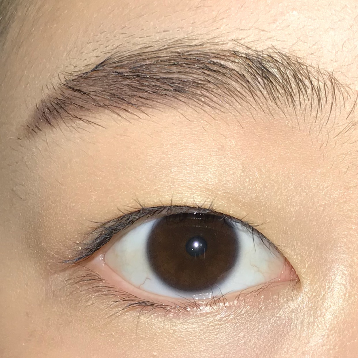 すっぴんの目です☺︎汗。