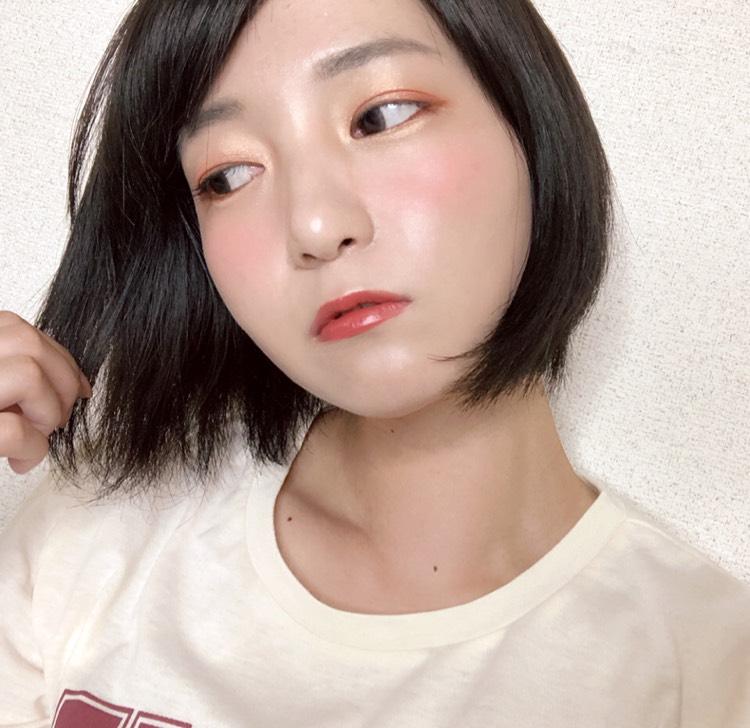 韓国コスメ縛りの赤メイクのAfter画像