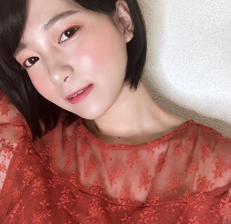 韓国コスメでサーモンピンクアイのAfter画像