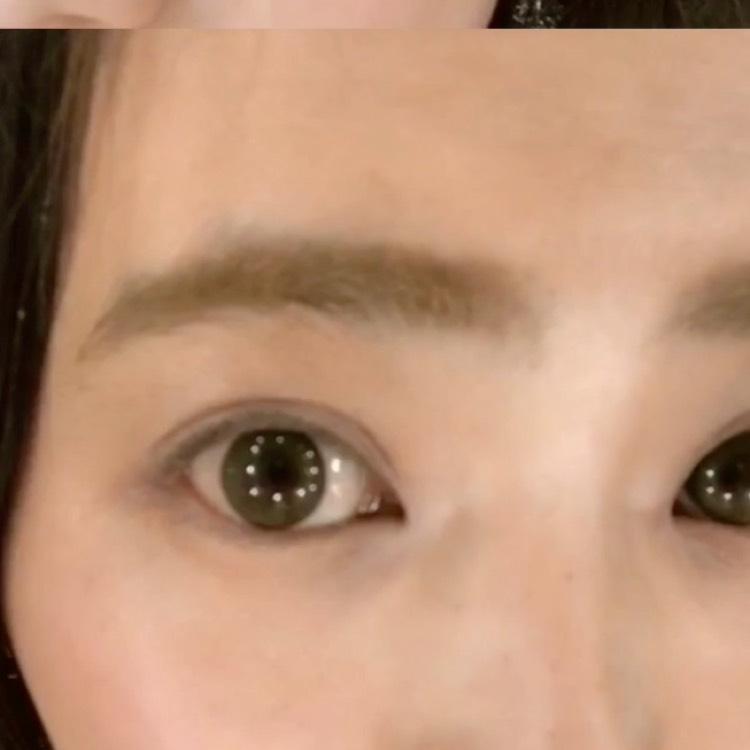 眉毛はペンシルとマスカラで◎のAfter画像