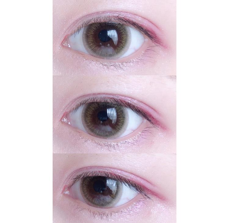 アイシャドウを塗った状態です。  ①コスメデコルテのアイグロウジェムPU180を上瞼に。 ②エレガンスクルーズのアイカラーウィンドlV01をアイホールに。 ③アディクションのザアイシャドウ005SwanLakeを涙袋に。 ④アディクションのザアイシャドウ099MissYouMoreを二重幅と下瞼の目尻に。 ⑤フローフシのモテライナーチェリーチークを黒目上から目尻までと、目頭に2~3mm程引きます。 ⑥トムフォードのシャドウエクストリームフラットアイシャドウTfx3を上瞼目尻に。 ⑦アディクションのザアイシャドウ009MissYouMoreを目頭に軽くポンポンと付けます。 ⑧最後にブレンディングブラシを使い、アイシャドウは何もつけずにブレンディングします。