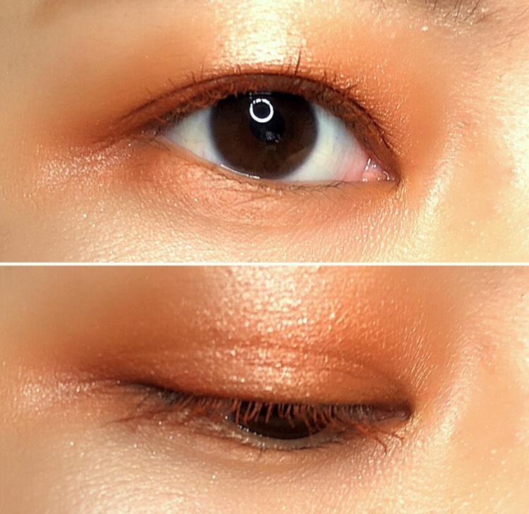 マスカラはペリペラのブラックメープルローズ使用です 発色抜群でオレンジのまつ毛になります マスカラをカラーマスカラにするだけで、オシャレ度がアップします