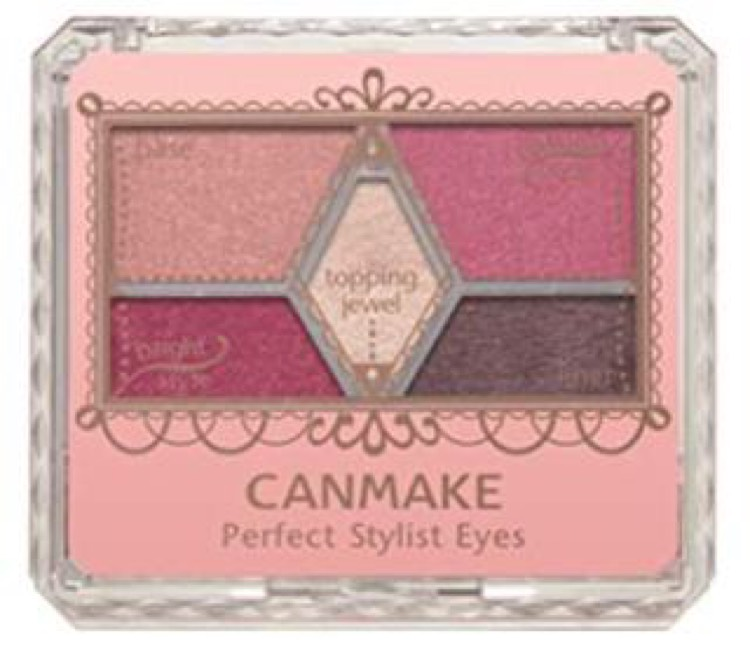 使用したアイシャドウはCANMAKE perfect stylist eyesの14番です。これ一つでボルドーメイクができちゃいます!