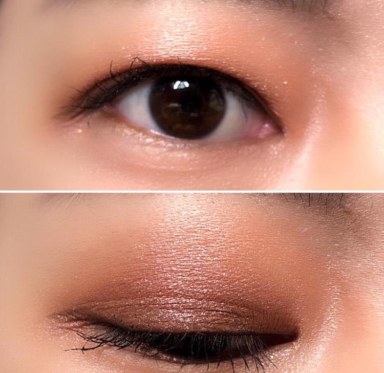 濃いブラウンは目を開いたときに見えない範囲に入れた方が、目が小さく見えません