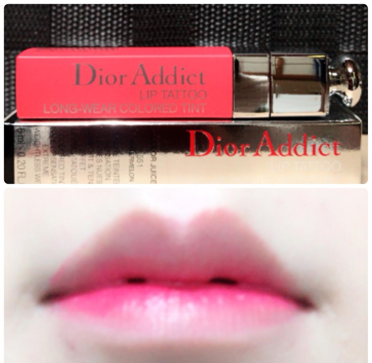 Diorのリップマキシマイザーを塗ってから同じDiorのリップティントを塗ります。