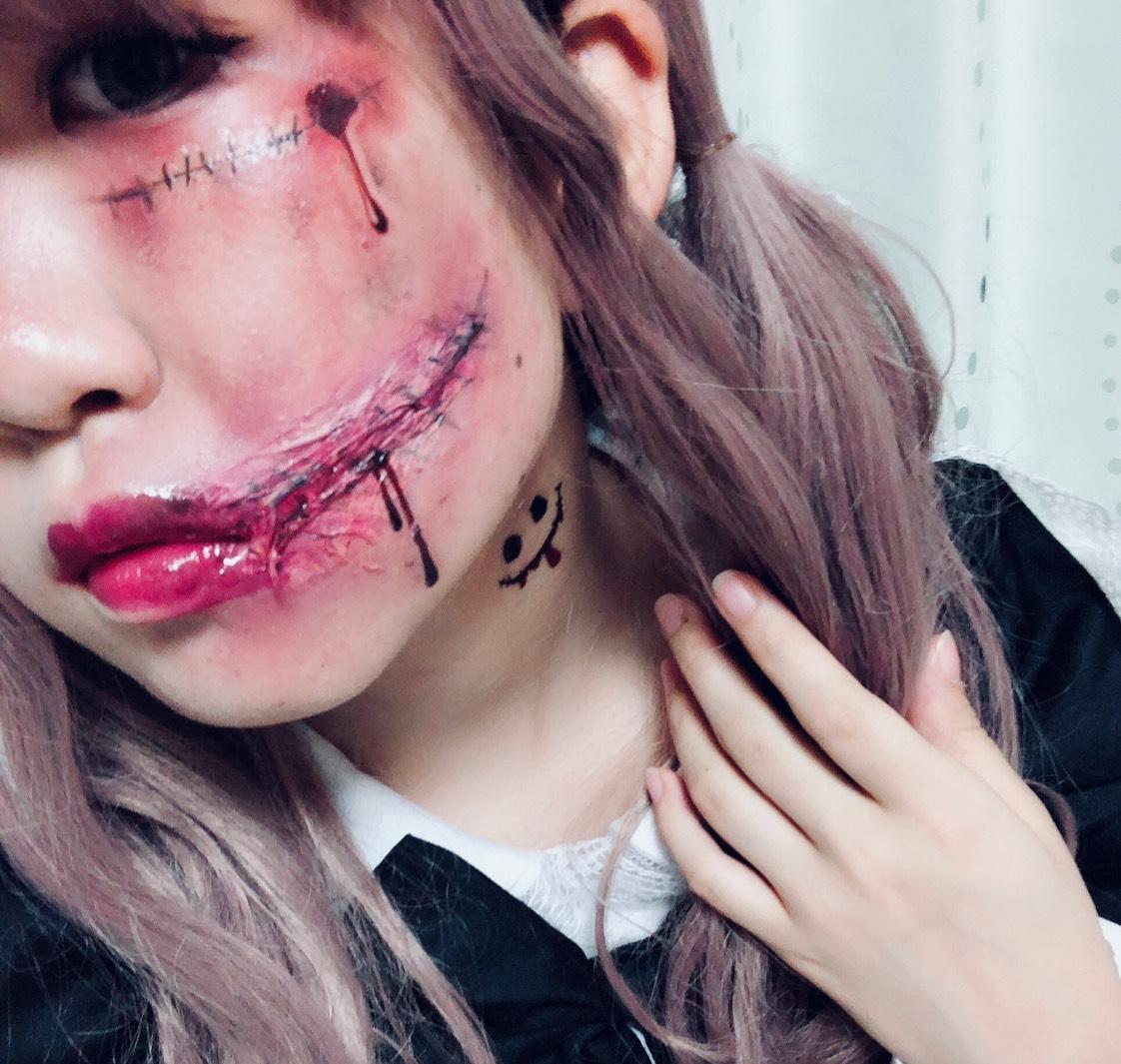 ハロウィンドール傷メイク♡のAfter画像