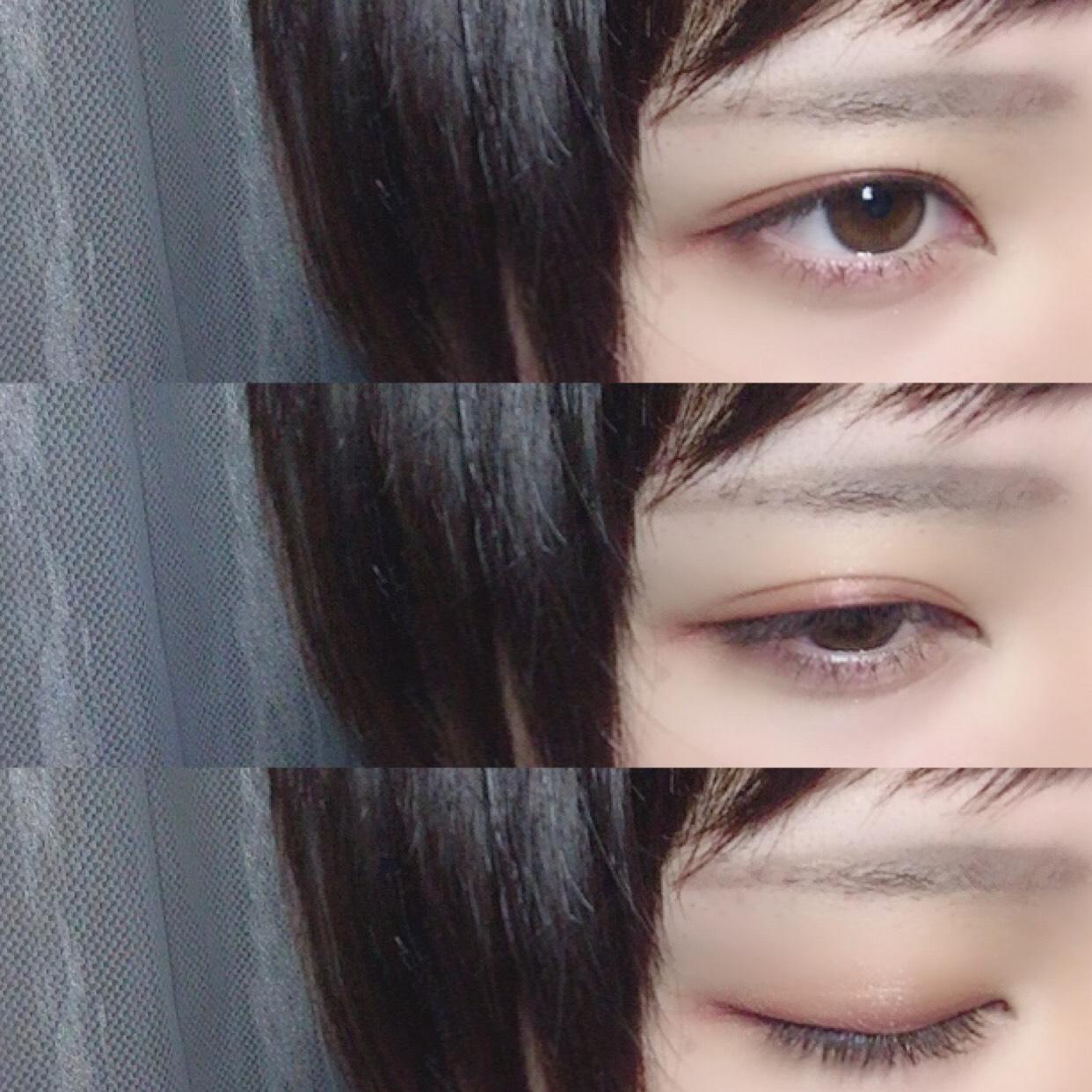 裸眼でもお目目が大きく見えます=͟͟͞͞( ¯−︎¯ )サササッ 切開ラインも足してみました!!参考にしていただければ!!幸いです!!