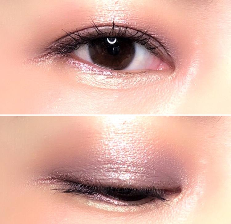 ラメ感で明るさを出すことで、血色の悪い色味になりません あくまで薄付きにするのが普段使いできるコツです