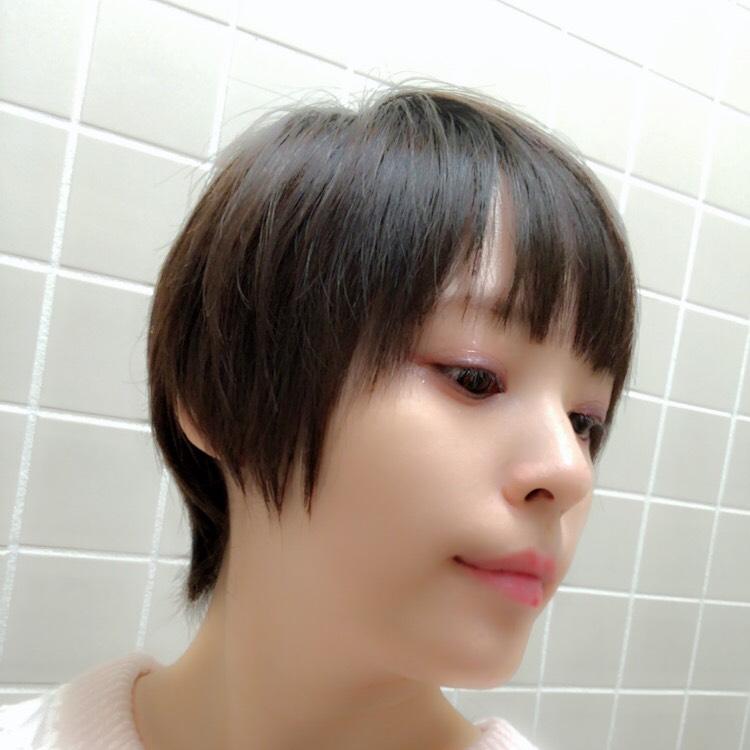白まつげのドールメイクのBefore画像