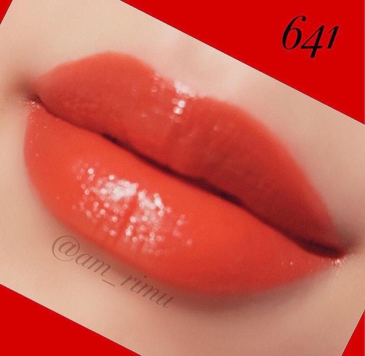 サテンな仕上がりの 赤です❤️ アオベ肌でも似合いそうな明るめな赤だと思います?