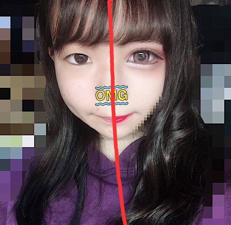 [all100均コスメ]一重ブスの半顔メイク