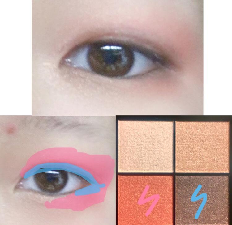 3.水色のカラーを目のキワにぬります