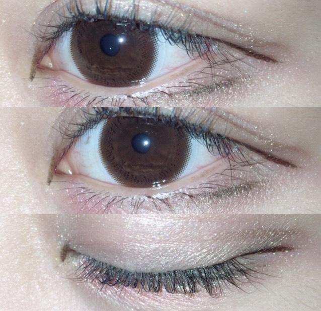アイラインはメイベリン ハイパーシャープ ライナー R のブラウンを目尻と目頭切開部分に書きます。
