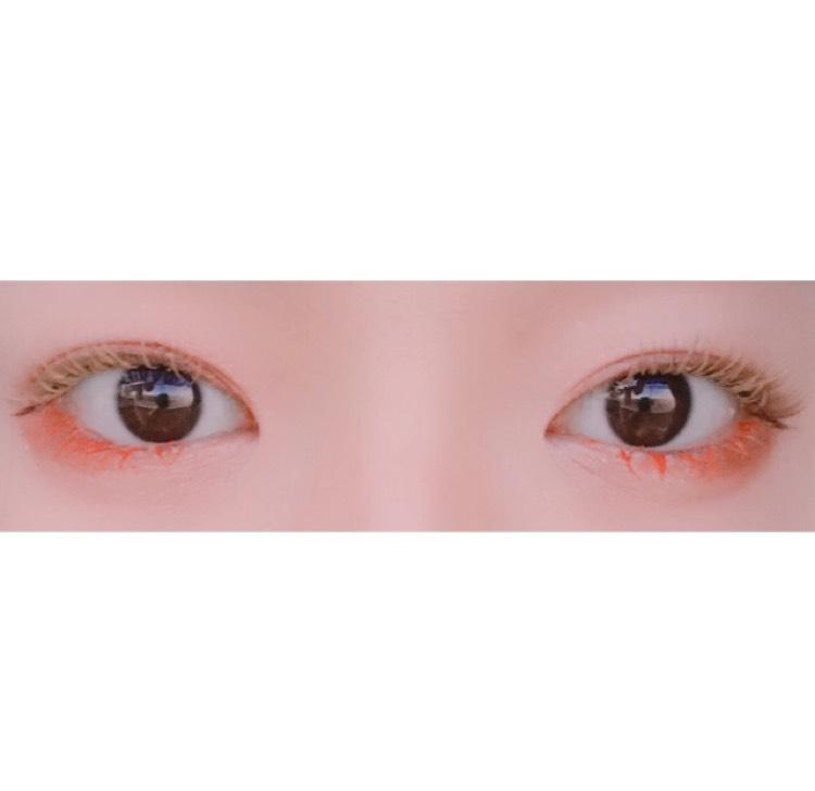 マスカラ遊び(カラーマスカラ)のAfter画像