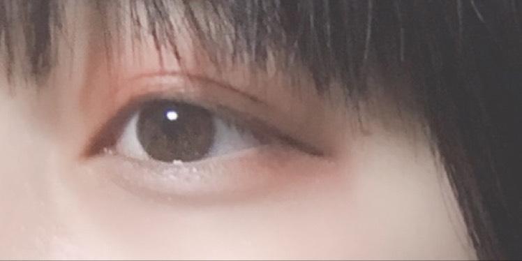 裸眼薄めオレンジメイクのAfter画像