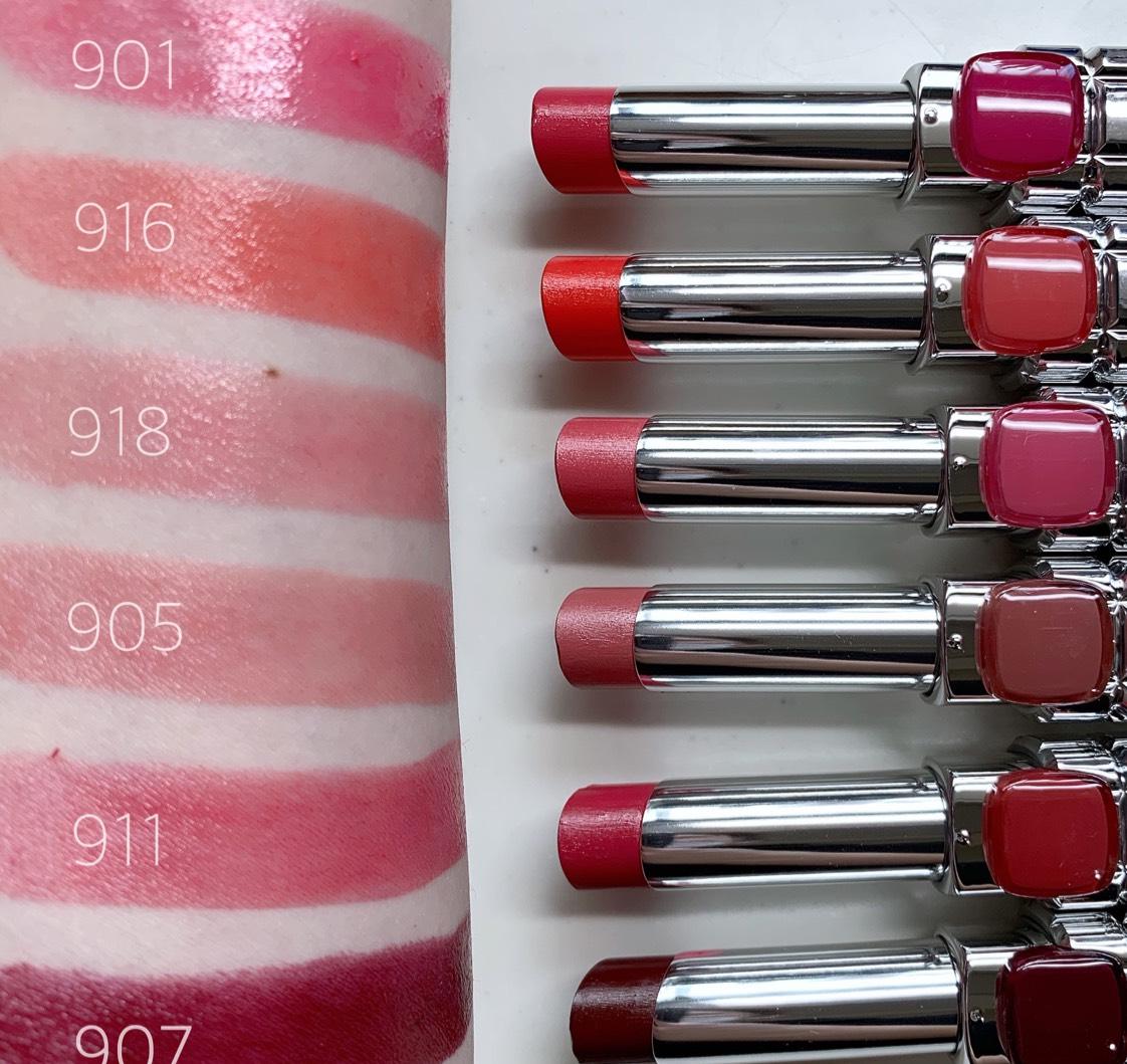 ブラウンベースの、女性らしい赤味が特徴的なリップコレクション☆